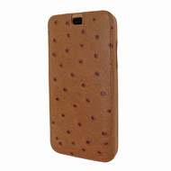 Piel Frama 794 Tan Ostrich Emporium Leather Case for Apple iPhone X / Xs