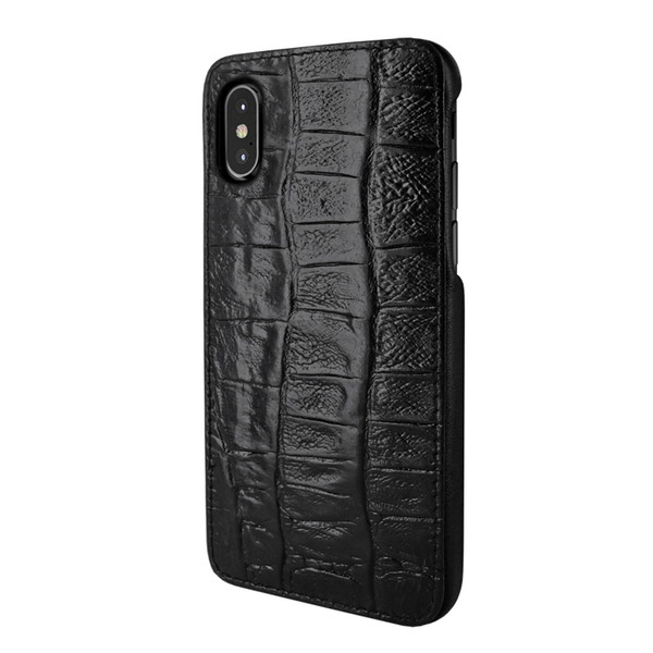 Piel Frama 791 Black Wild Crocodile FramaSlimGrip Leather Case for Apple iPhone X / Xs