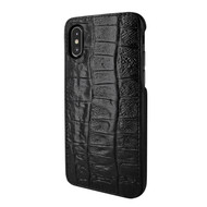 Piel Frama 791 Black Wild Crocodile FramaSlimGrip Leather Case for Apple iPhone X / Xs