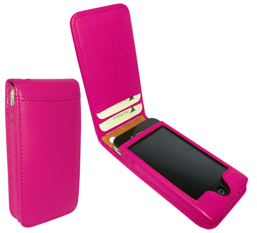 Piel Frama 525 Pink Magnetic Leather Case for Apple iPhone 4 / 4S
