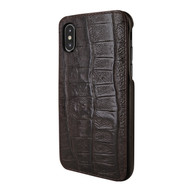 Piel Frama 791 Brown Wild Crocodile FramaSlimGrip Leather Case for Apple iPhone X