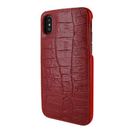 Piel Frama 791 Red Wild Crocodile FramaSlimGrip Leather Case for Apple iPhone X