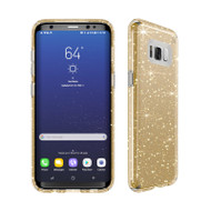 Samsung Galaxy S8 Speck Products Presidio Clear  Glitter Case - Clear And Gold Glitter