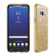 Samsung Galaxy S8 Plus Speck Products Presidio Clear  Glitter Case - Clear And Gold Glitter