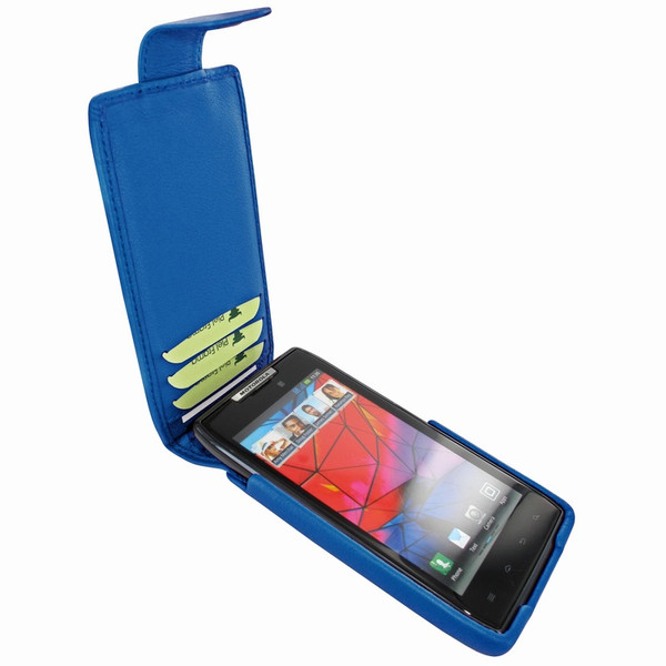 Piel Frama 562 iMagnum Blue Leather Case for Motorola Droid RAZR / RAZR MAXX