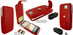 Piel Frama 584 Red Leather Hybrid Case for HTC One X