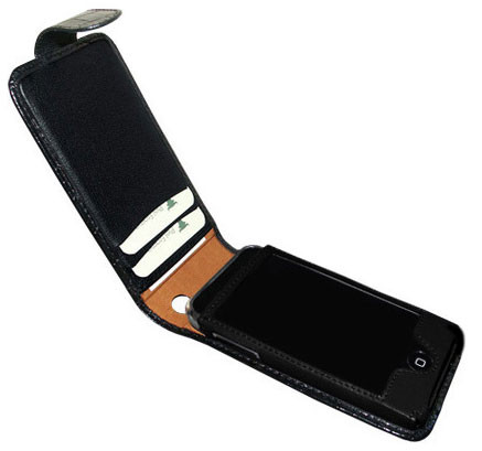 Piel Frama 983 Black Crocodile Pattern Leather Case for Apple iPhone 3G / 3GS