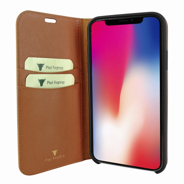 Piel Frama 808 Tan FramaSlimCards Leather Case for Apple iPhone Xs Max