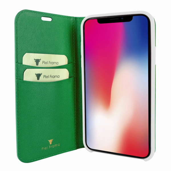 Piel Frama 808 Green FramaSlimCards Leather Case for Apple iPhone Xs Max