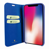 Piel Frama 808 Blue FramaSlimCards Leather Case for Apple iPhone Xs Max