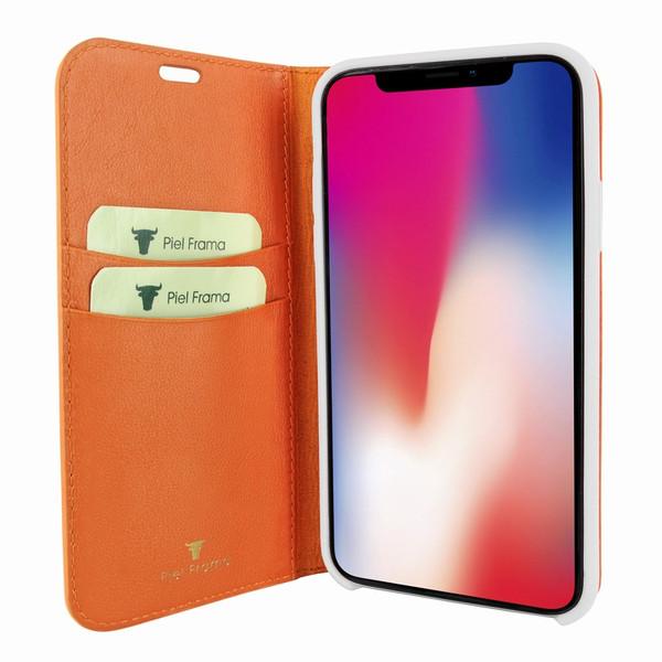 Piel Frama 808 Orange FramaSlimCards Leather Case for Apple iPhone Xs Max