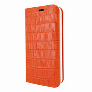 Piel Frama 808 Orange Crocodile FramaSlimCards Leather Case for Apple iPhone Xs Max