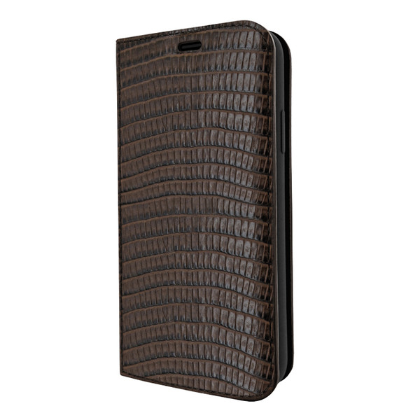 Piel Frama 808 Brown Lizard FramaSlimCards Leather Case for Apple iPhone Xs Max