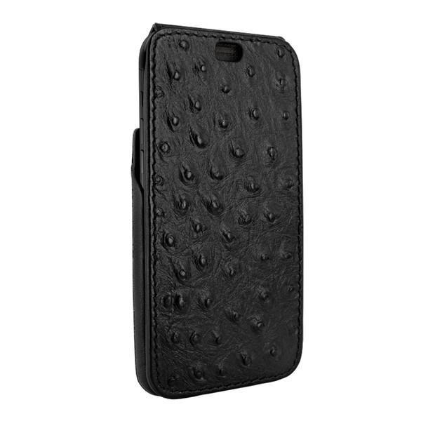 Piel Frama 809 Black Ostrich iMagnum Leather Case for Apple iPhone Xs Max