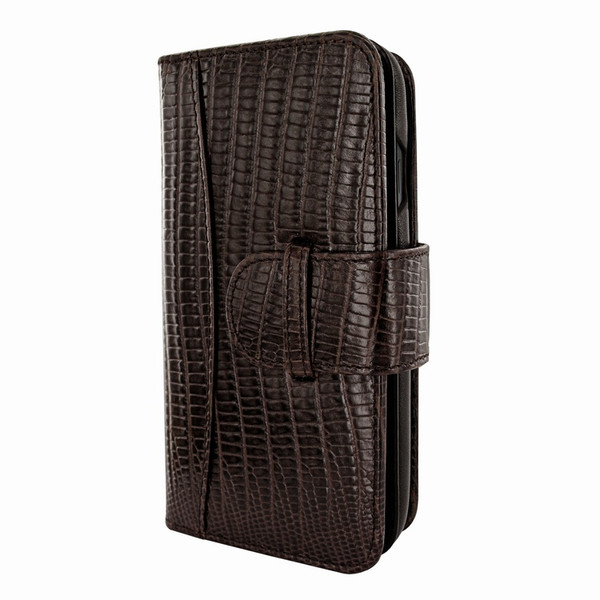 Piel Frama 810 Brown Lizard WalletMagnum Leather Case for Apple iPhone Xs Max
