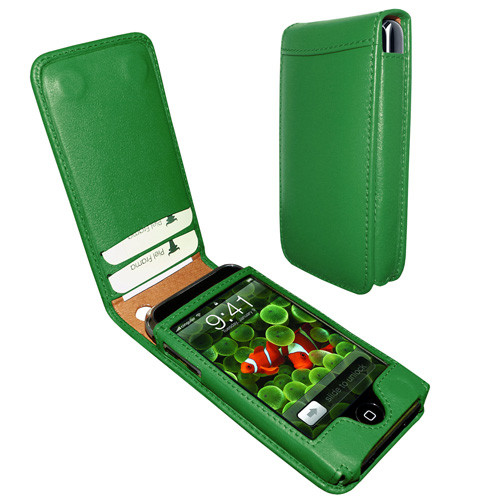 Piel Frama 982 Dark Green Magnetic Leather Case for Apple iPhone 3G / 3GS