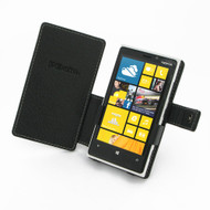 PDair Black Leather Book-Style Case for Nokia Lumia 920