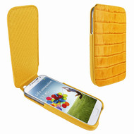 Piel Frama 618 iMagnum Yellow Crocodile Leather Case for Samsung Galaxy S4