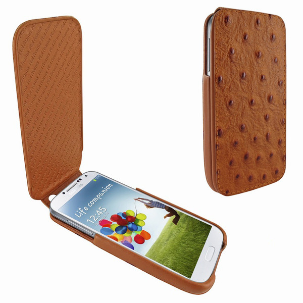 Piel Frama 618 iMagnum Tan Ostrich Leather Case for Samsung Galaxy S4