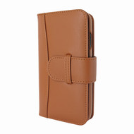 Piel Frama 817 Tan WalletMagnum Leather Case for Apple iPhone Xr