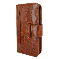 Piel Frama 817 Brown Crocodile WalletMagnum Leather Case for Apple iPhone Xr