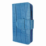 Piel Frama 817 Blue Crocodile WalletMagnum Leather Case for Apple iPhone Xr