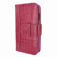 Piel Frama 817 Pink Crocodile WalletMagnum Leather Case for Apple iPhone Xr