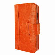 Piel Frama 817 Orange Crocodile WalletMagnum Leather Case for Apple iPhone Xr
