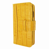 Piel Frama 817 Yellow Crocodile WalletMagnum Leather Case for Apple iPhone Xr