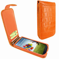 Piel Frama 620 Orange Crocodile Magnetic Leather Case for Samsung Galaxy S4