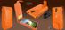 Piel Frama 620 Orange Crocodile Magnetic Leather Case for Samsung Galaxy S4