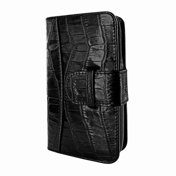 Piel Frama 622 Black Crocodile Leather Wallet for Samsung Galaxy S4