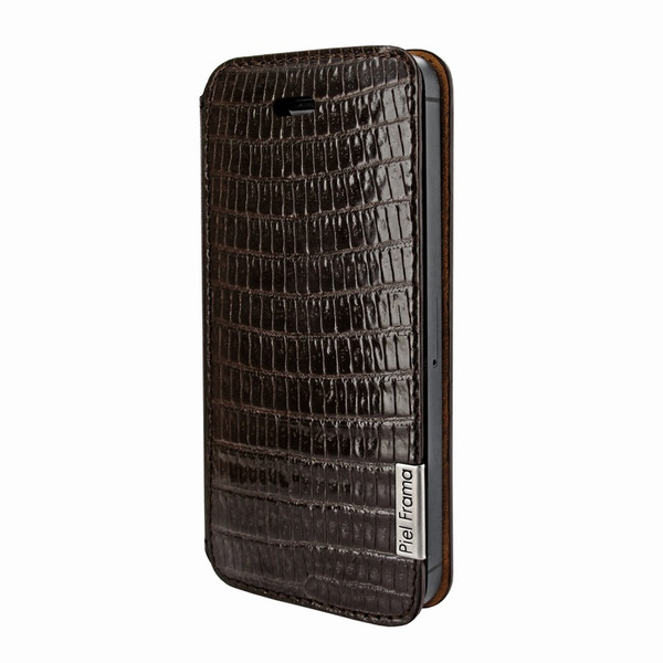 Piel Frama 639 Brown Lizard FramaSlim Leather Case for Apple iPhone 5 / 5S / SE