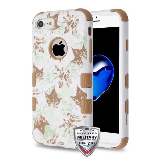 iPhone 7 Misty Maple/Taupe TUFF Hybrid Protector Cover [Military-Grade Certified](with Package)