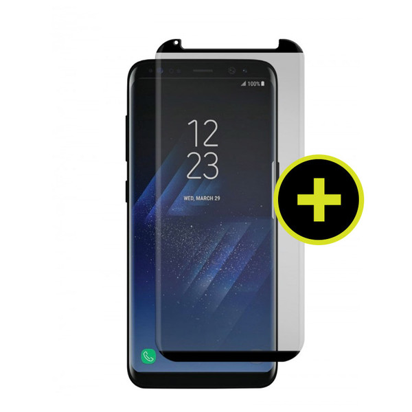 Gadget Guard - Black Ice Cornice Curved Glass Screen Protector for Samsung Galaxy S8 - Clear