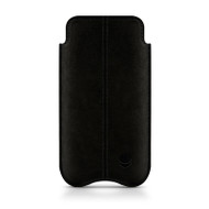 Beyza Suede Black SLIMLINE STITCHES Pouch for Apple iPhone 5 / 5S