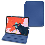 "Noreve Apple IPad Pro 11"" (2018) Leather Case - Tradition - Perpétuelle - Bleu océan ( Nappa - Pantone 293C )"