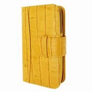 Piel Frama 671 Yellow Crocodile Leather Wallet for Samsung Galaxy S5