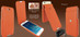Piel Frama 676 Orange iMagnum Leather Case for Apple iPhone 6 / 6S / 7 / 8