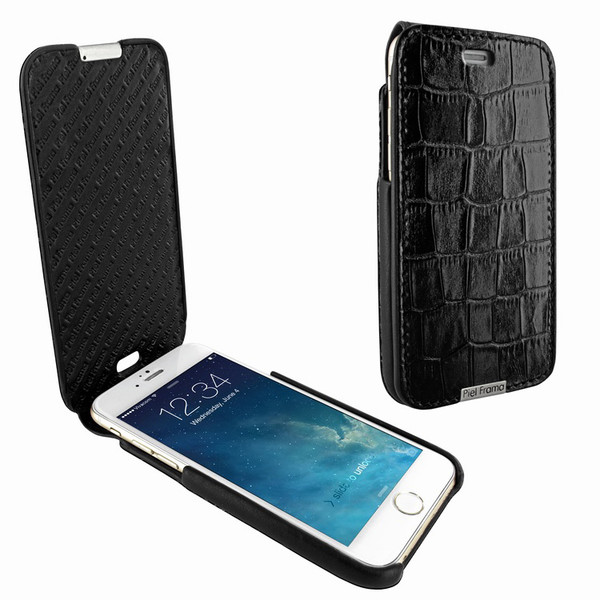 Piel Frama 676 Black Crocodile iMagnum Leather Case for Apple iPhone 6 / 6S / 7 / 8