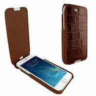 Piel Frama 676 Brown Crocodile iMagnum Leather Case for Apple iPhone 6 / 6S / 7 / 8