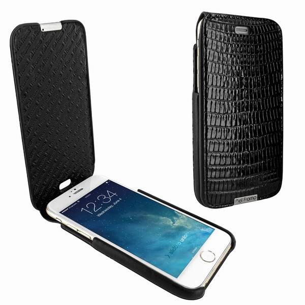 Piel Frama 676 Black Lizard iMagnum Leather Case for Apple iPhone 6 / 6S / 7