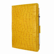 Piel Frama 823 Yellow Crocodile Cinema Magnetic Leather Case for Apple iPad Air (2019)
