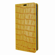 Piel Frama 821 Yellow Crocodile FramaSlimCards Leather Case for Samsung Galaxy S10 Plus