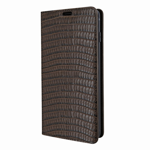 Piel Frama 821 Brown Lizard FramaSlimCards Leather Case for Samsung Galaxy S10 Plus