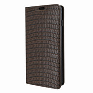 Piel Frama 820 Brown Lizard FramaSlimCards Leather Case for Samsung Galaxy S10