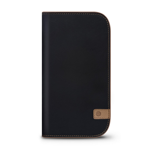 Beyza Black-Tan NATURAL WALLET for iPhone 6