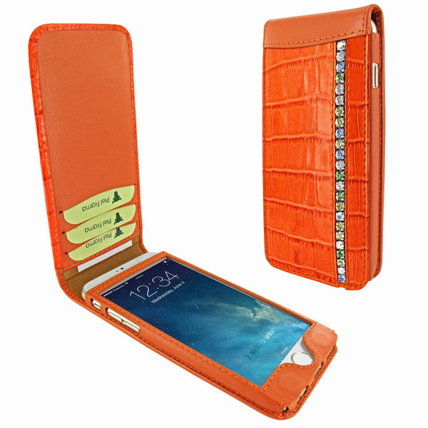 Piel Frama 689 Orange Swarovski Crocodile Magnetic Leather Case for Apple iPhone 6 Plus / 6S Plus