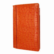 "Piel Frama 695 Orange Crocodile Magnetic Leather Case for Apple iPad Air 2 / iPad 9.7"" 2017 