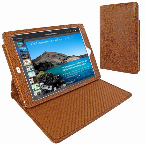 "Piel Frama 694 Tan Karabu Cinema Magnetic Leather Case for Apple iPad Air 2 / iPad 9.7"" 2017   2018"